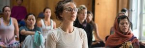 Large image of Bryn Chrisman yoga session at the 5th Annual Bhakti Immersion Weekend